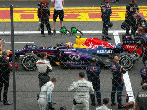 Australian Mark Webber at the start of the race.