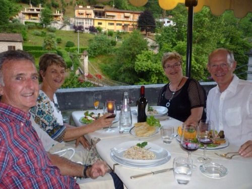 Gary & Pauline with us having dinner at Circolo dei Forestieri