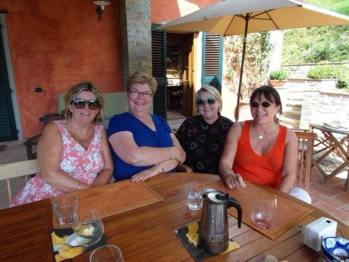Karen, myself, Debra & Cherry up at Cherry's for lunch