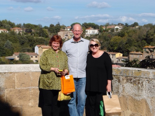 Sandra (Debra's sister), Jim & Debra in Pitigliano