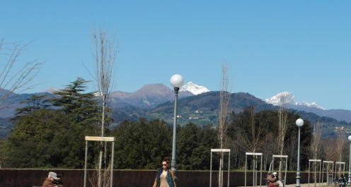 In March the peaks were capped in snow.